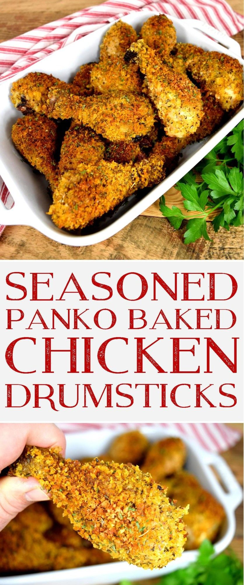 Seasoned Panko Crusted Baked Chicken Drumsticks Tried this