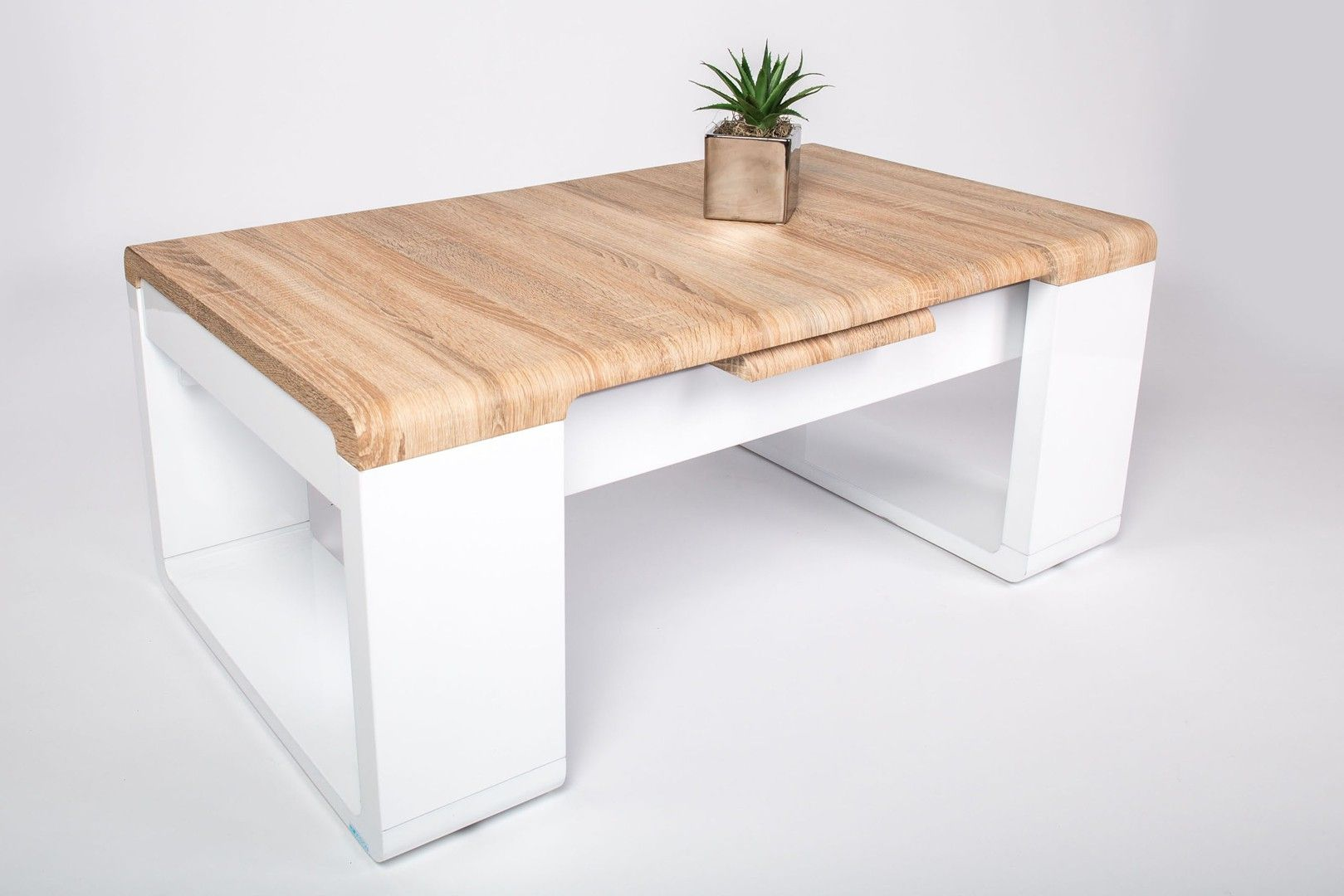 impressionnant table basse bois et laqué blanc | Décoration ...
