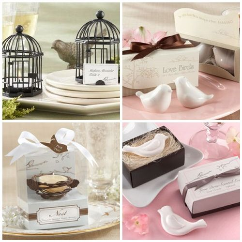 Love birds wedding favors bird wedding themes favors and bird love birds wedding favors favor couture sally wilson shops whether to be weds are drawn to what love birds represent or theyre lovers of all things junglespirit Choice Image