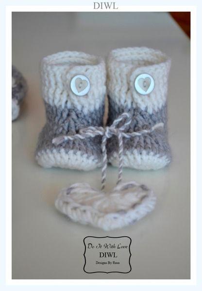 ❤ Baby Schuhe Booties 4 Designs Häkelanleitung ❤ | Pinterest ...
