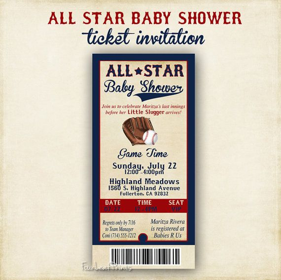 12 best images about all star baby shower on pinterest | baby, Baby shower invitations