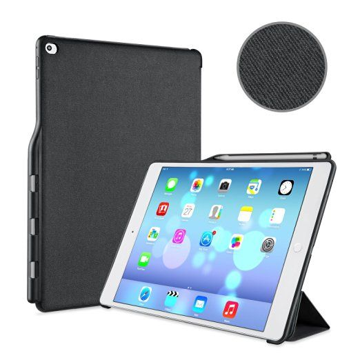 Ipad Pro 12.9 Case With Pencil Holder Pleasing Ipad Pro 129 Protector Cover Ivapo Pencil Holder Pu Amazoncouk