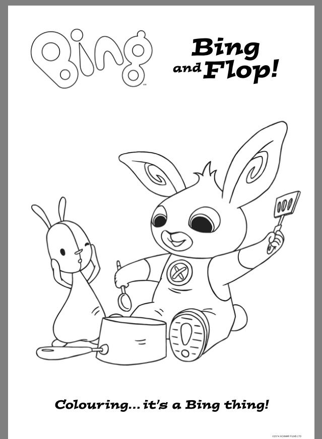 Pin By Janica Strydom On Bing Bunny Party Ideas Bing Bunny Coloring Books Kids Crafting