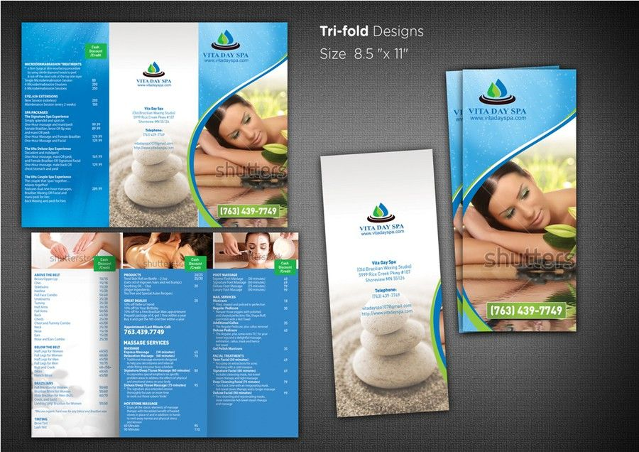 Help Vita Day Spa With A New Brochure Design By Ganess  Brochure