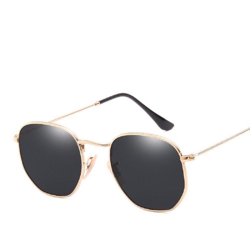 db2f7c1c2 Hexagonal Sunglasses Men Women Coating Mirror Sun Glasses Vintage Driving  UV400 #Unbranded #Square