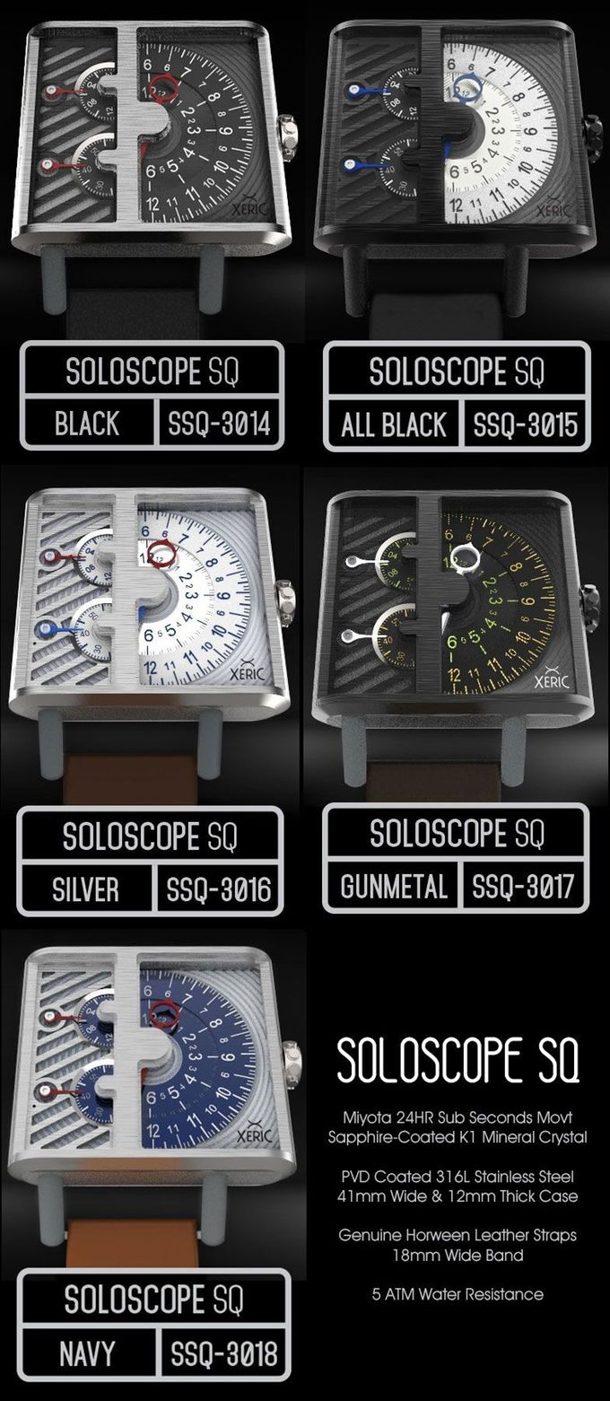 The SOLOSCOPE Automatic Watch by XERIC: Time to go Solo.