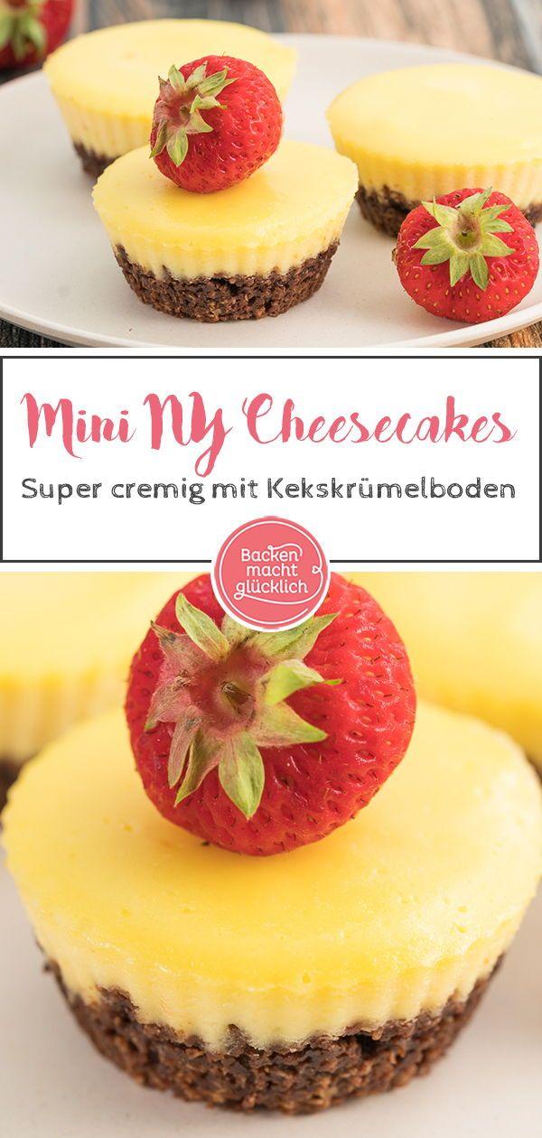 Kleine New York Cheesecakes #cupcakesrezepte