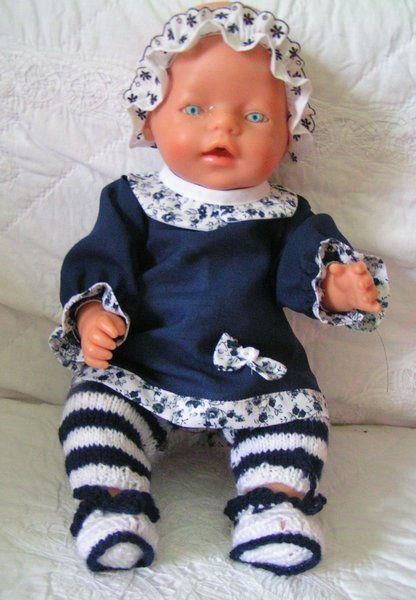 Puppenkleidung 5 Tlg. Gr.43cm Baby Born-Chou Chou. von Oma`s Puppenstube u.v.m. auf DaWanda.com