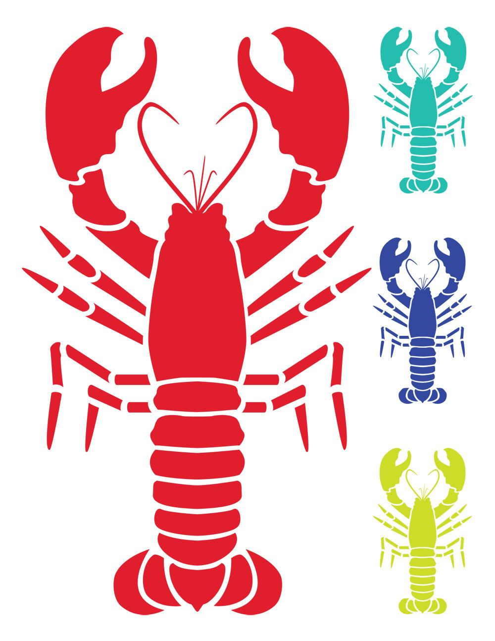 Nautical Clip Art Lobster Clip Art Vector Lobster