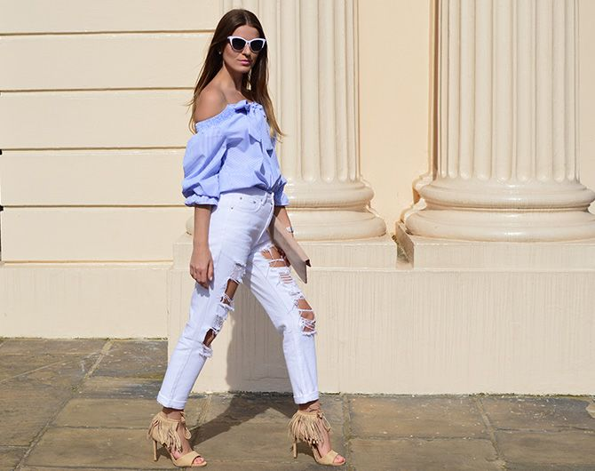 64e5935ba6fd7 lasula-mom-ripped-jeans-off-shoulder-top-striped-blue-tassel-heels-2 ...