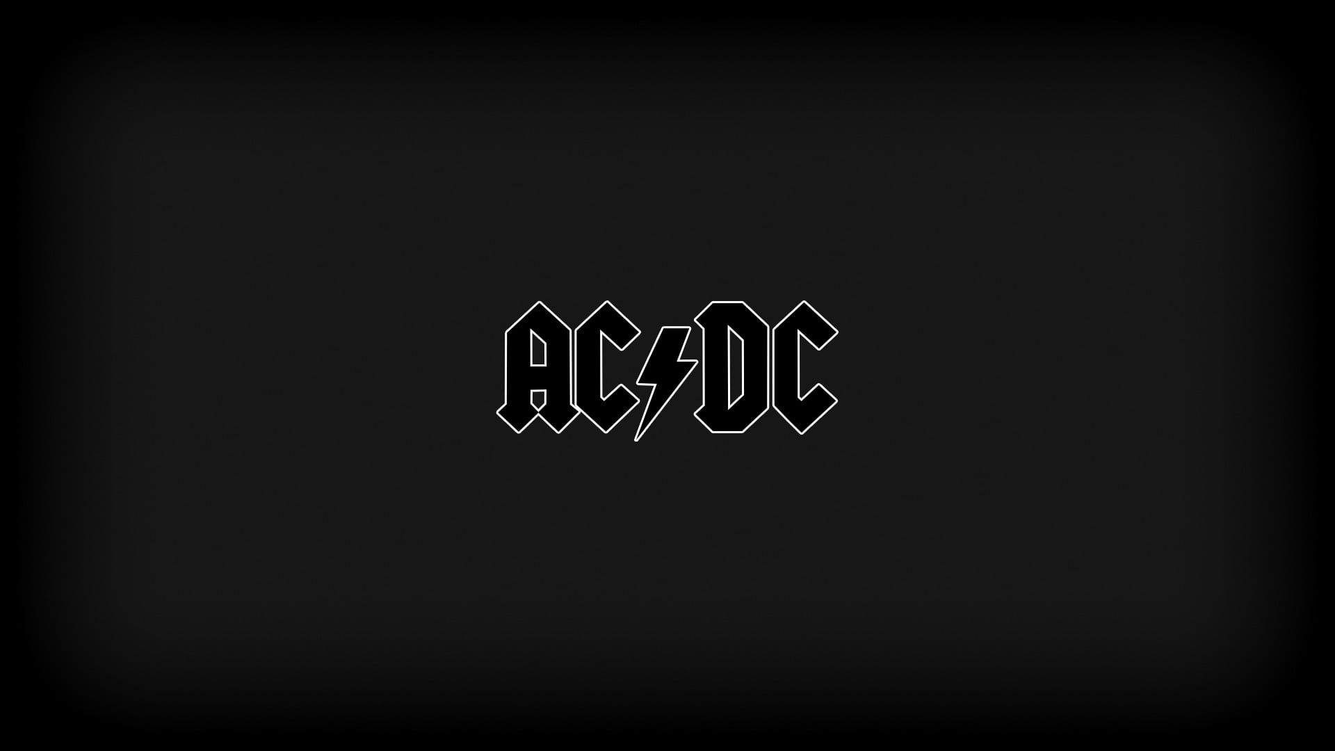 Ac Dc Logo On Black Background Acdc Ac Dc Rock 1080p