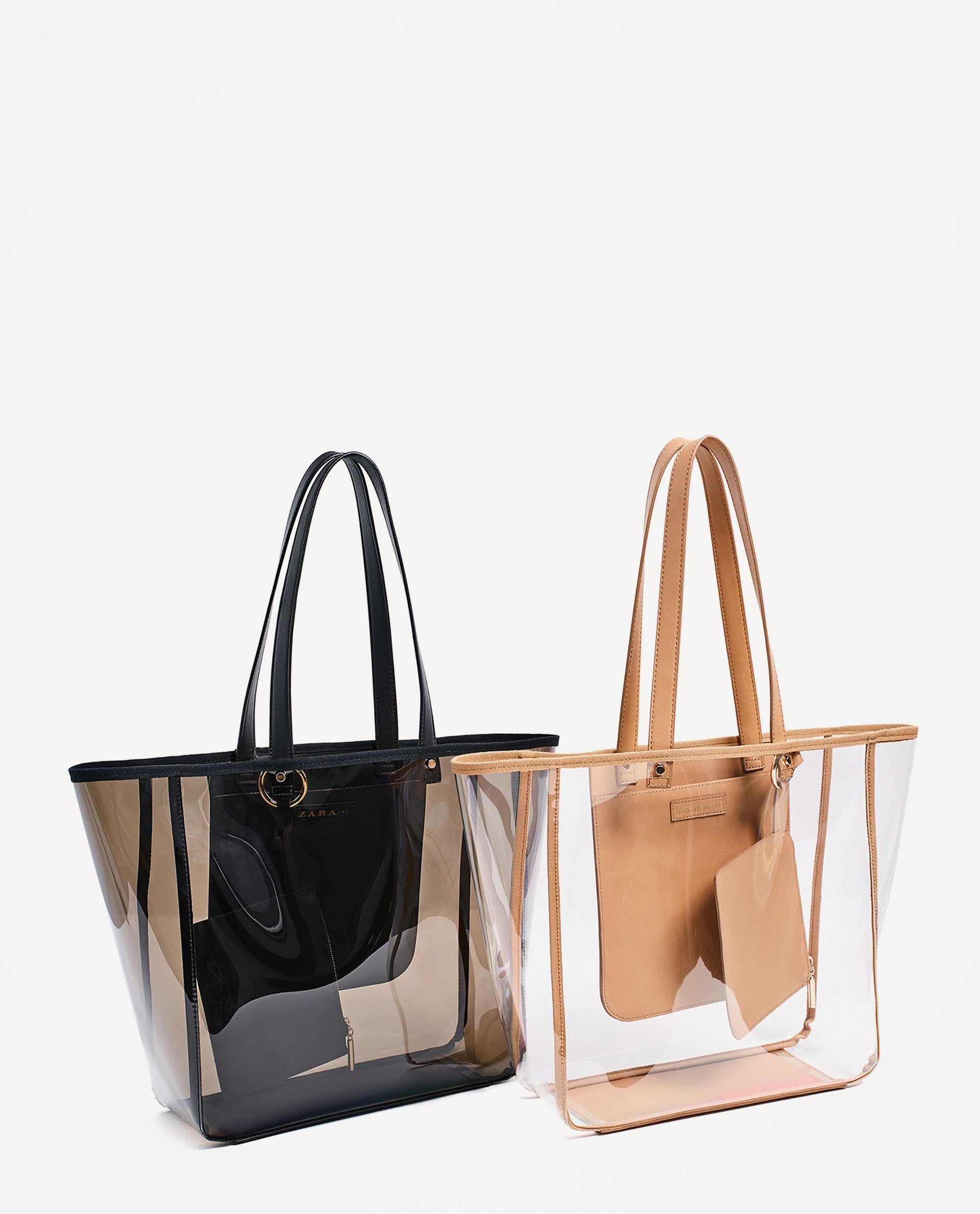 16885f90f SHOPPER TRANSPARENTE en 2019 | Zara | Bolsos cartera, Bolsos de moda ...