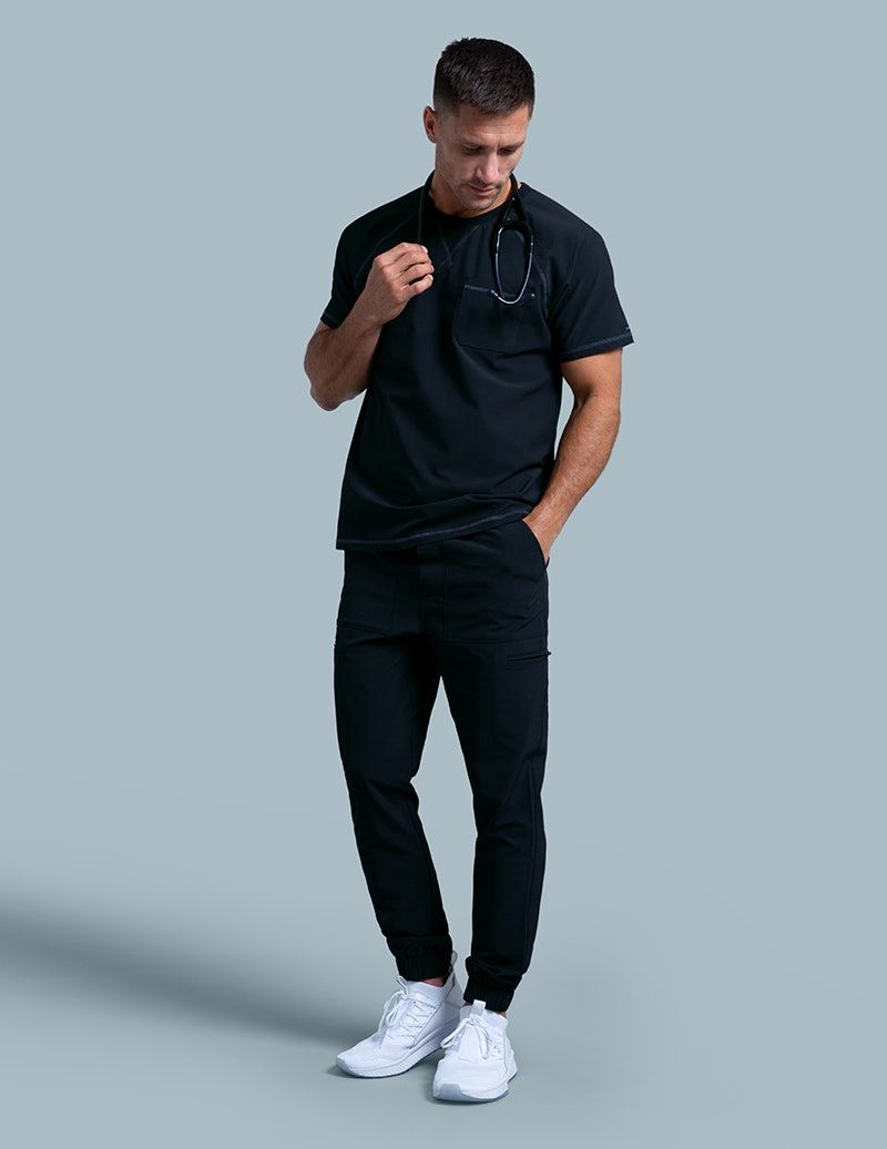 aed6c6ab8ce Jogger Pant in Black - Medical Scrubs in 2019 | Wrk | Jogger pants ...