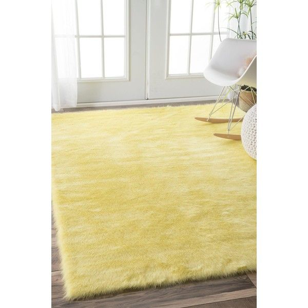 Cloud Shag Rug In Yellow Design By Nuloom 24 695 Huf Liked On Polyvore Featuring Home Rugs Yellow Area Rug Ac Yellow Rug Yellow Nursery Yellow Area Rugs