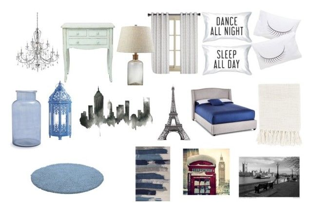 New Bedroom by directioner-monster on Polyvore featuring interior, interiors, interior design, hogar, home decor, interior decorating, Mitchell Gold + Bob Williams, Surya, Sur La Table and Pier 1 Imports