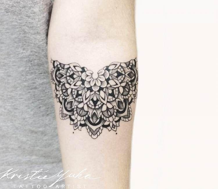 6205cf00d7540 Half Mandala tattoo by Kristie Yuka | Sacred Geometry Tattoos | Half ...