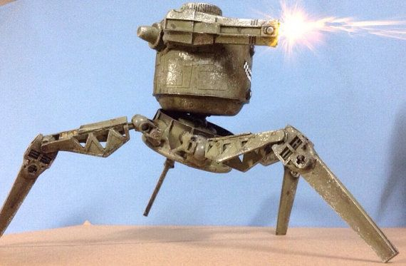 assemblage assault droid aka bipolar by Valerobots on Etsy