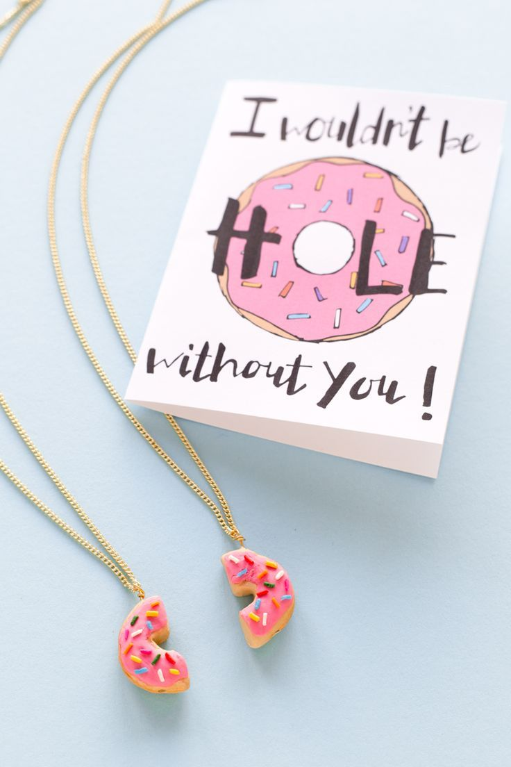 Diy food friendship necklaces a giveaway diy donuts for Craft gifts for friends