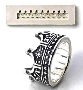 Ring  N silver Polymer pmc  art clay mold