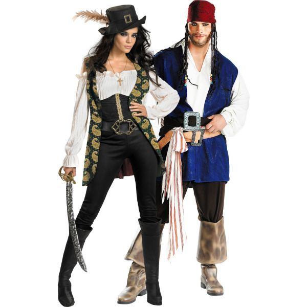 FANCY DRESS COSTUME = DELUXE CARRIBEAN PIRATE