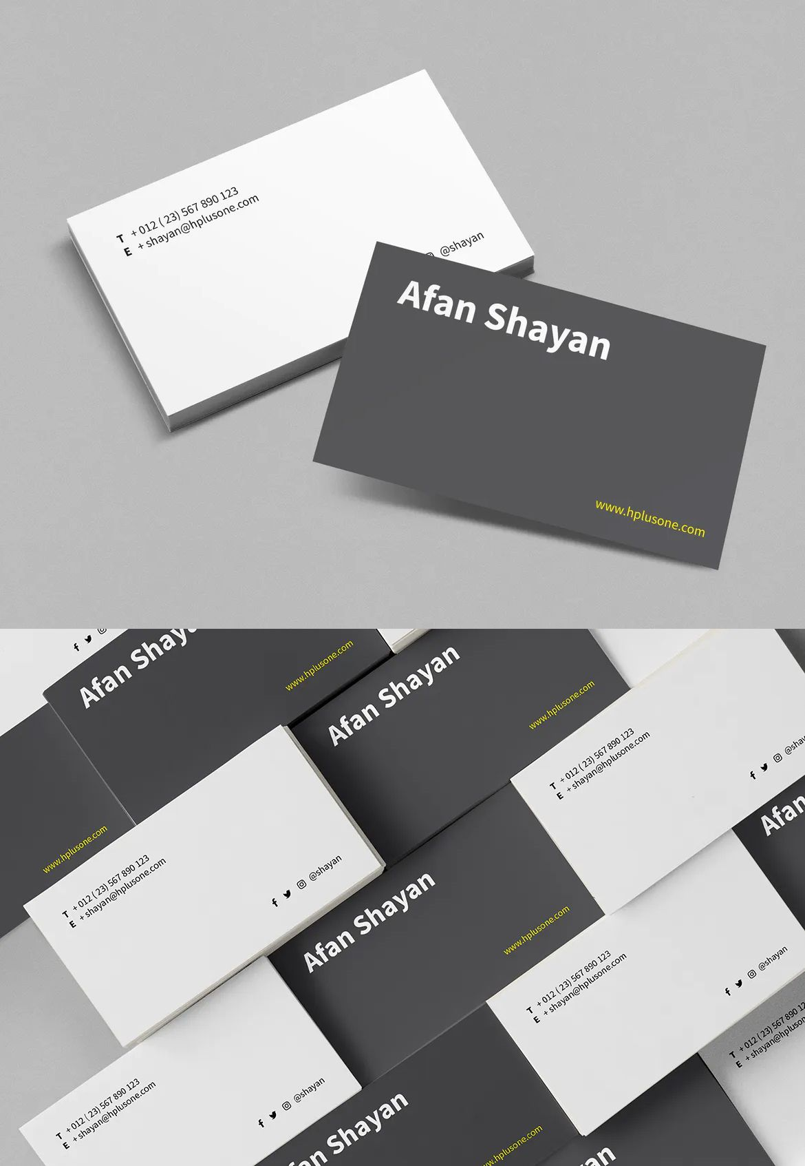 Business Card By Boxkayu On Envato Elements Business Card Graphic Business Card Template Download Business Card