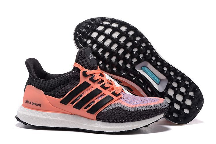 san francisco 6eb06 40b62 Adidas Women Ultra Boost Running Shoes Grey Orange Light Purple
