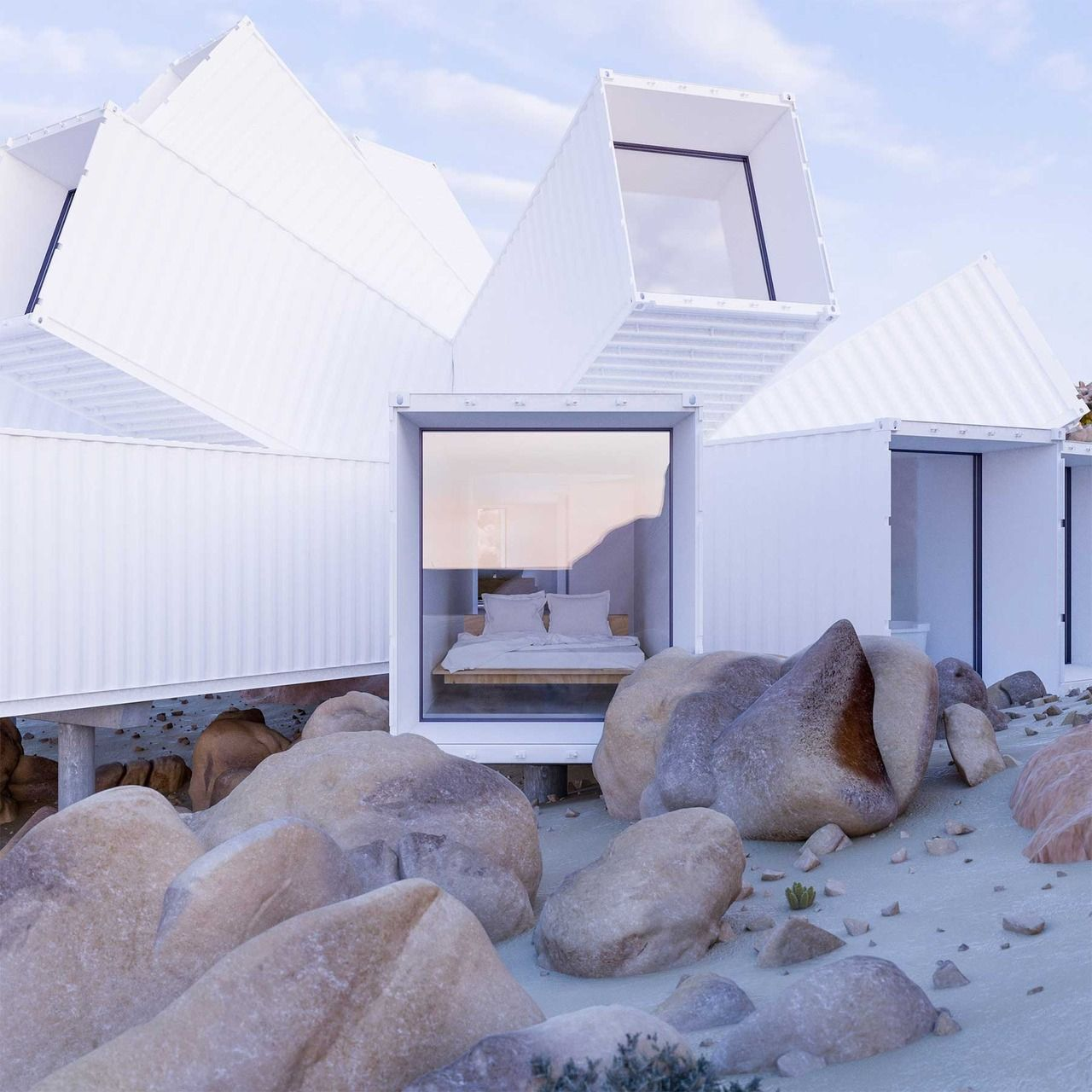 Container Haus Luxus Luxus Haus Aus Schiffscontainern The Joshua Tree Residence