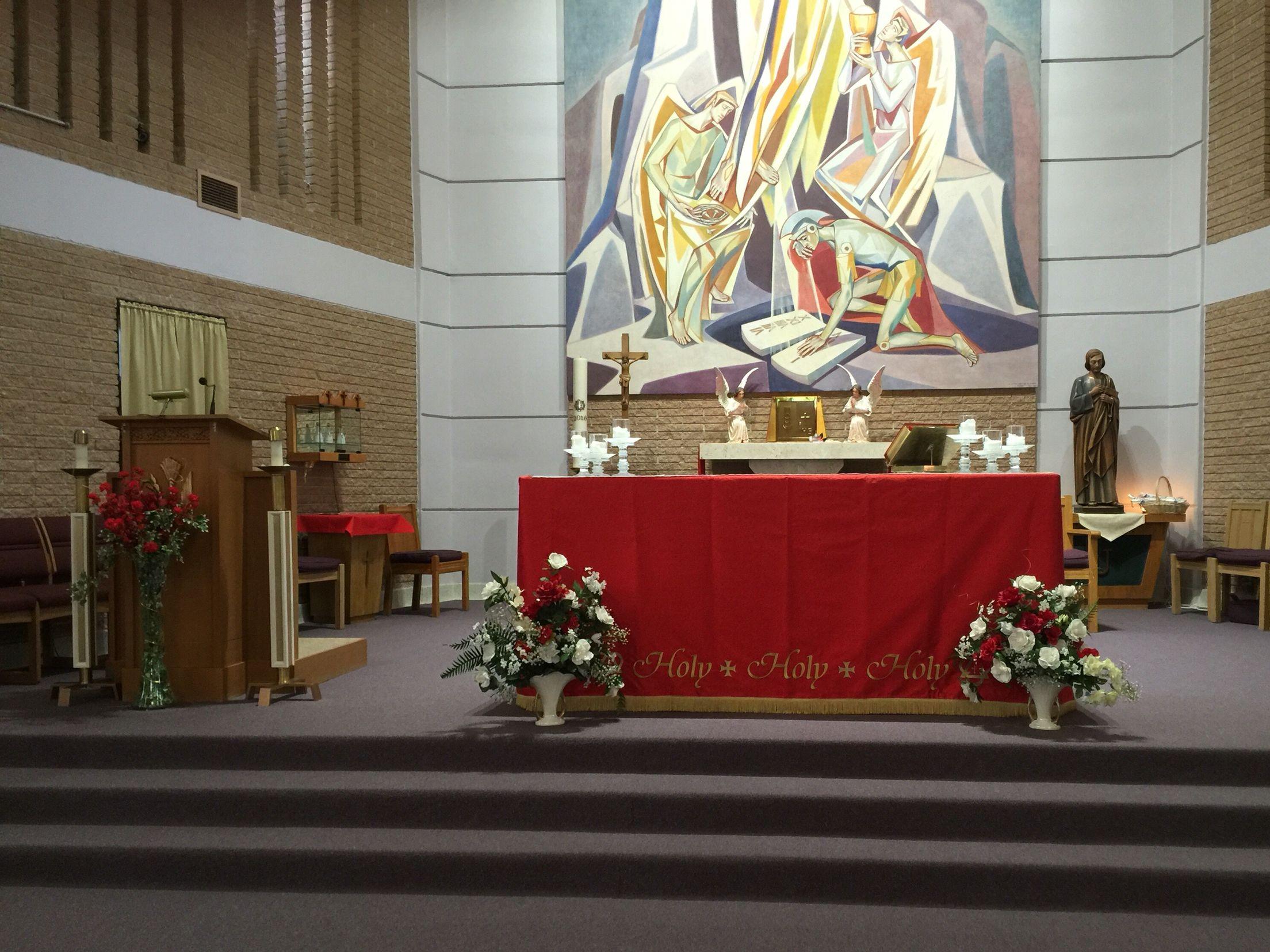 Pentecost Sunday Altar Holy Family Catholic Church Deming Nm