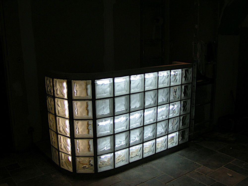 Bar En Briques De Verre Eclairage Mur Brique Brique Verre
