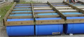 Homemade Pontoon Boat 55 Gal Drums Google Search Boat Ideas