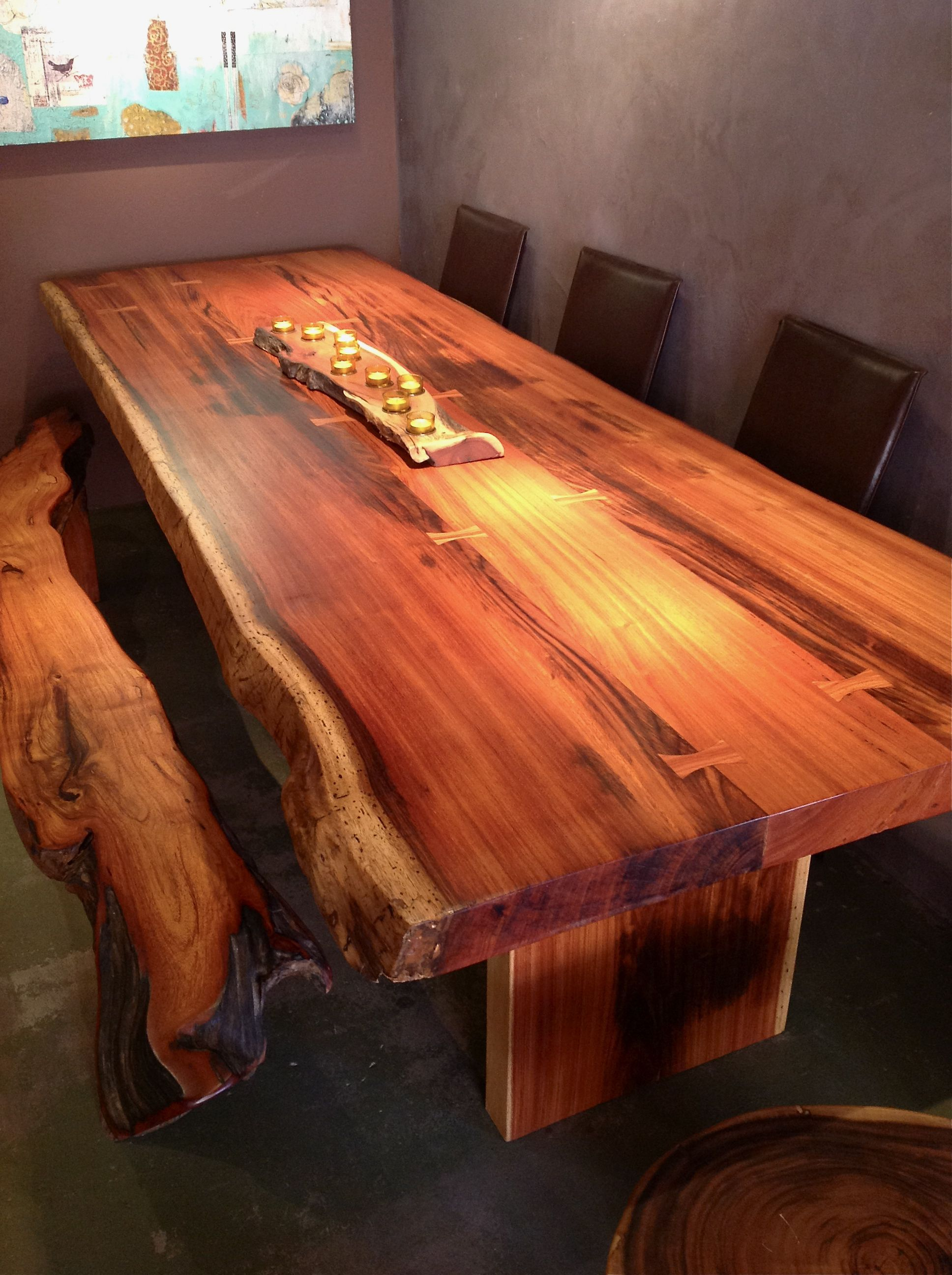live edge dining table sequoia santa fe sequoia santa fe. Black Bedroom Furniture Sets. Home Design Ideas
