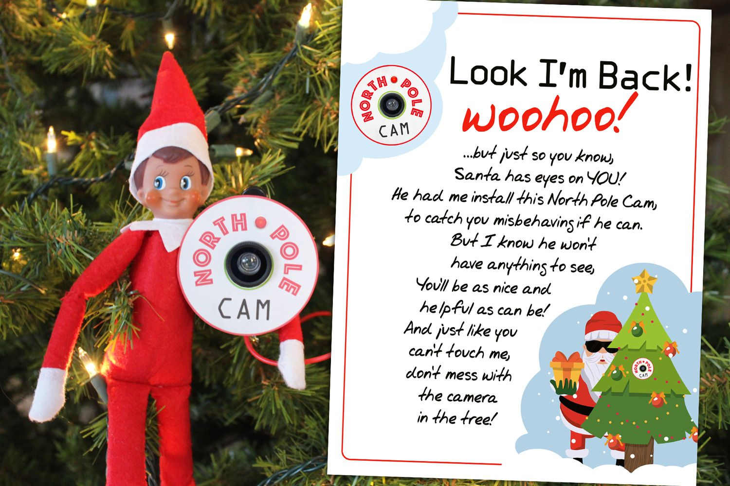 55+ New Elf on the Shelf Ideas: #26 5 Minute Santa or North Pole Cam ...