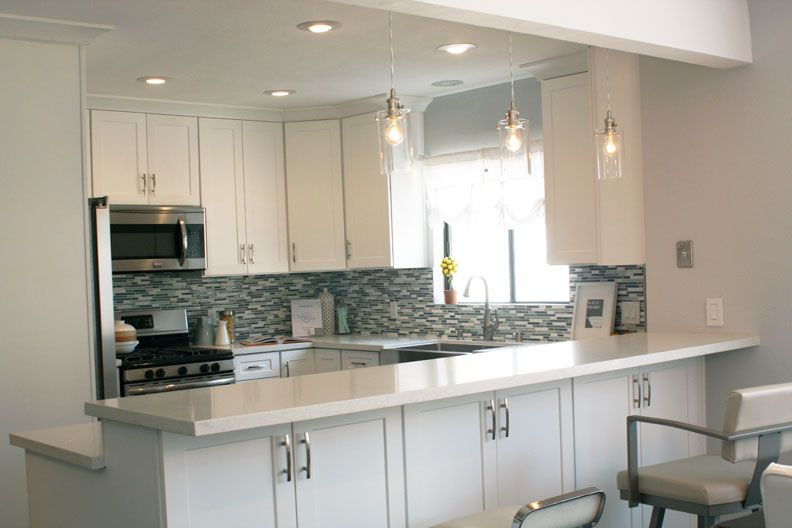 White Shaker Cabinets Sparkle