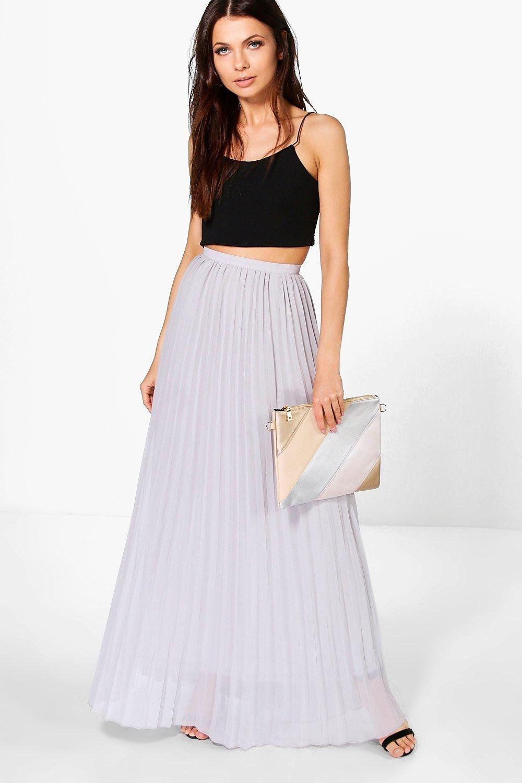 867eb2191 Chiffon Pleated Maxi Skirt | Cheap finds | Long pleated maxi skirt ...