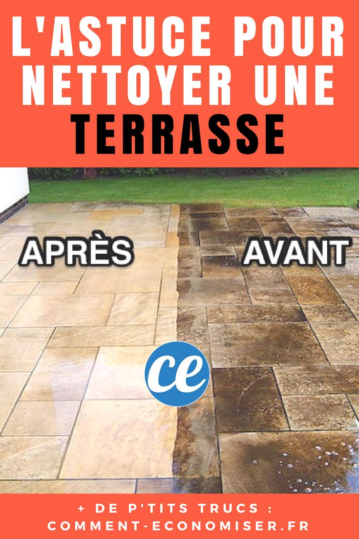 Terrasse Noircie L Astuce Miracle Pour La Nettoyer Sans Effort Recette Nettoyage Terrasse Nettoyer Terrasse Nettoyant Carrelage