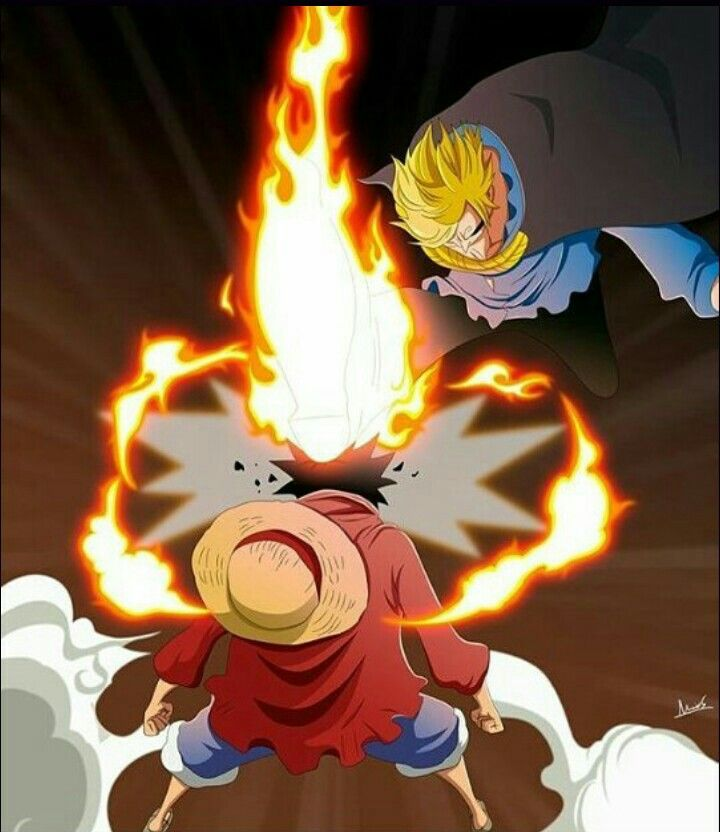One piece Sanji vs Luffy  a178266abdf