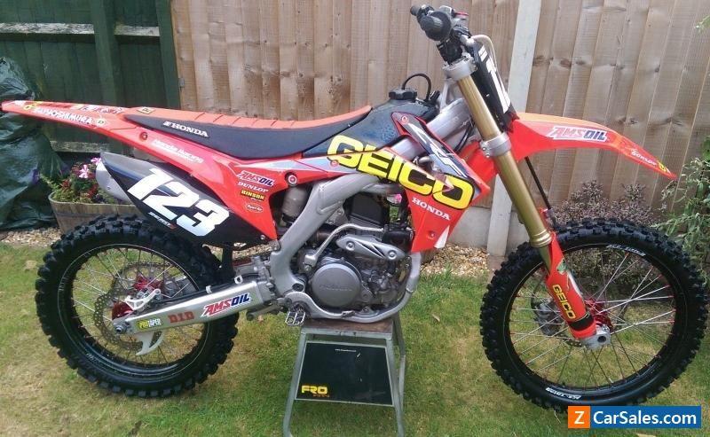 Geico Honda Crf 250 2014 Model Motocross Bike Honda Crf Forsale Unitedkingdom Motorcycles For Sale Motocross Bikes Cars And Motorcycles