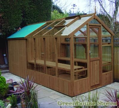 swallow kingfisher 6x8 greenhouse shed combination - Garden Sheds Greenhouses Combined