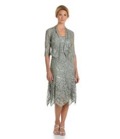 Pin By Judy Jensen On Mother Of The Groom Tea Length Dresses Mothers Dresses Beaded Mesh Dress