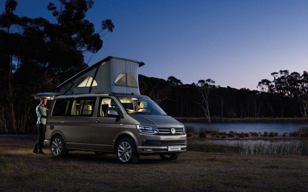 Volkswagen S New California Camper Van Is A Tech Rich Nostalgia Mobile Vw California Camper Camper Van Volkswagen