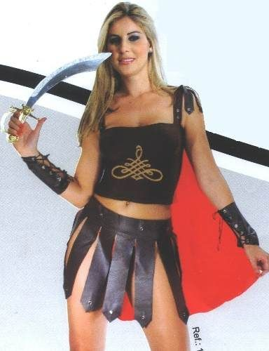 16bc8a704 Fantasia Festas Carnaval Gladiadora Shena Brinde Espada !!! - R  120 ...