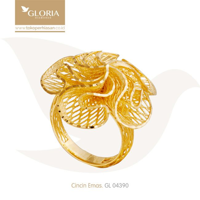 Cincin Model Mawar Jala 5 Kelopak Goldring Goldstuff Gold Goldjewelry Jewelry Engagementring Perhiasanemas Cincinem Cincin Emas Cincin Emas Putih Emas