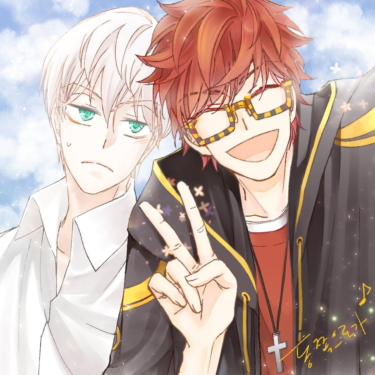 동쪽으로가 on Mystic messenger characters, Mystic messenger