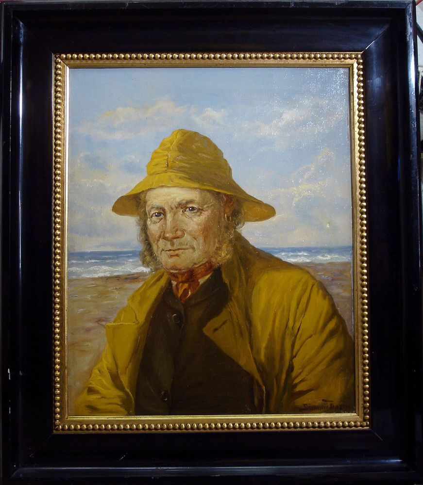 PORTRAIT OF A FISHERMAN by OLUF SIMONY JENSEN