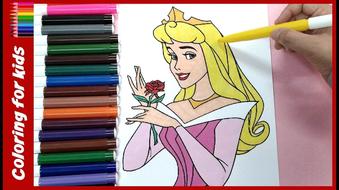 Ausmalbilder Disney Channel : Disney Princess Aurora Coloing Book For Kids Prinzessin