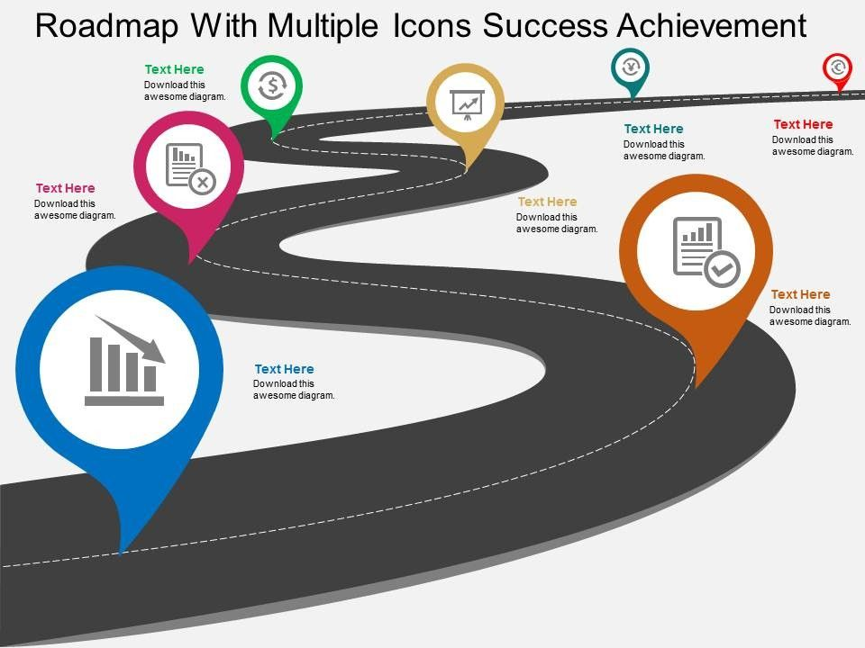 Check out this amazing template to make your presentations look - free roadmap templates