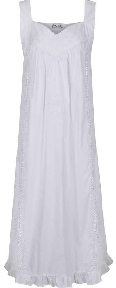 100% Cotton Sleeveless Nightdress Sizes S 75b98ba2b
