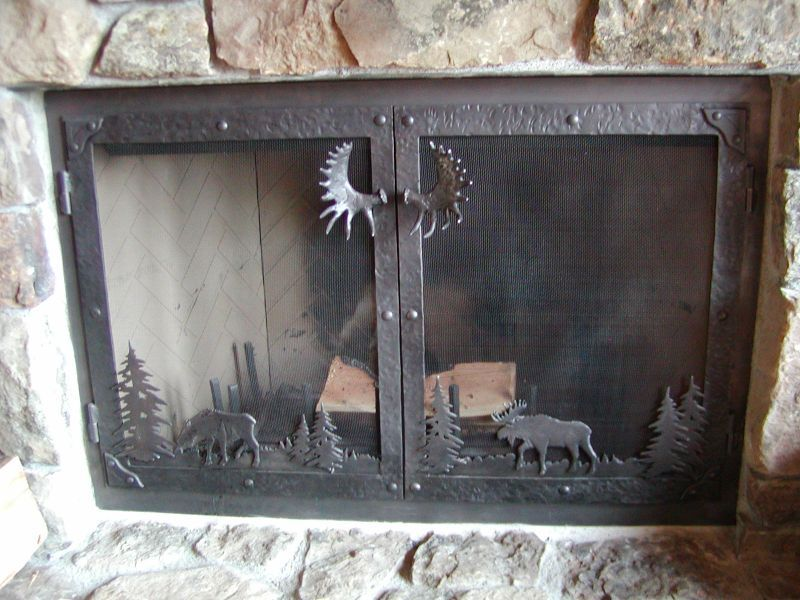 Fireplace Door Iron Art Pinterest Fireplace Doors Doors And