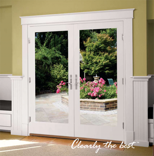 Milgard French Doors In Swing Doors Fiberglass Livingroom