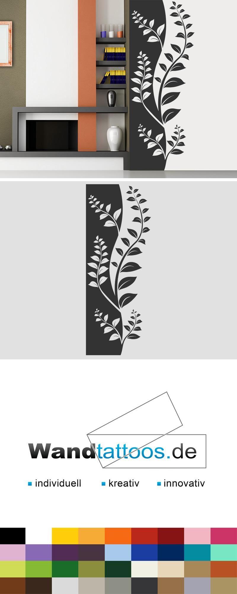 Wandbanner Dekorative Ranke als Idee zur individuellen Wandgestaltung. Einfach Lieblingsfarbe und Größe auswählen. Weitere kreative Anregungen von Wandtattoos.de hier entdecken!